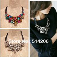 Min. is 10$ Fashion Crystal Collar Necklace Fake Collar Woman Dress Chunky Necklace Jewelry Free Shipping
