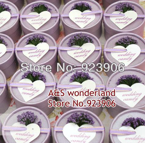 Wedding favours,favor boxes 30pcs/lot purple lavender box,hot sale Free shipping jewelry box(China (Mainland))