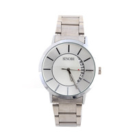 2014 SINOBI Luxury Men's Sport Watch Stainless Steel Band Fashion Casual Watches Large Dial Date Analog Discount