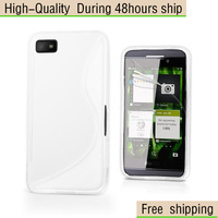 New Soft TPU Gel S line Skin Case Cover for Blackberry Z10  Free Shipping UPS DHL EMS HKPAM CPAM