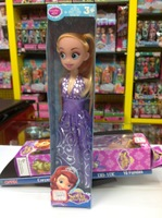 2013 NEW 11 INCH Popular sofia the first girl dolls plastic girls' gift toys free shipping vinyl doll toys whole sale