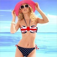 Free Shipping Beauty Women Favor Strapless Bikini set Sexy Swimsuit Top and Bottoms Swimwear 3002