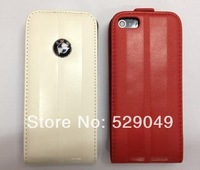 20pcs Unique design Business style car logo Mobile Phone Leather Case for iphone 5