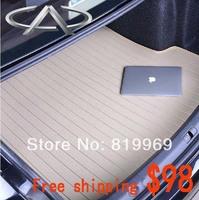 Free shipping Chery trunk mat  For  A3 A5 QQ6 Tiggo High quality Microfiber leather trunk mat