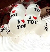 Wedding party balloons I love you helium balloon letters balloon Korea creative latex balloons  12 inches