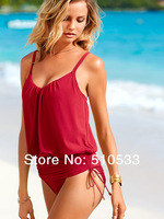 2014 New Arrival Sexy Lady's Red Green Women's One Piece Swimsuit Brand Solid Bathing Suit FREE SHIP