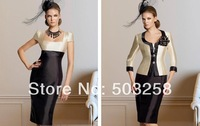 ACD57 mother evening dress Cheap Classic  Satin Mothers Dress with Top robe de soiree