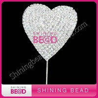 Wedding heart shaped cake topper
