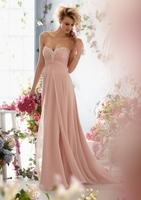 Free Shipping ! Cheap Price ! In Stock ! 2015 Hot Sweetheart Beading Crystal Long Dress Train Chiffon Evening Dresses OL4311