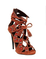 Free Shipping 2014 New Lace Up Sandals Women Snake Skin Sexy Fashion High Heel Dress Sandals Tassel