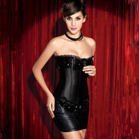 Free Shipping New arrival Sexy Boned Corset Bustier hot sale Strapless lace Bustier