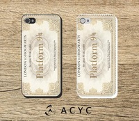 Harry Potter Train Ticket  Hard Cover or Rubber Case for iPhone 5S/5 Personalized Custom Free Shipping