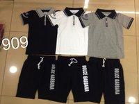Boy's  2014 T-shirt summer short sleeve shirt,baby cotton clothes,popular boy's  plaid tees,children sports t-shirt