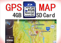 Free shipping  4GB/2GB memory card micro sd with 3D gps map card