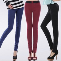 2014 winter plus velvet legging female thickening thermal skinny pants boot cut jeans long trousers
