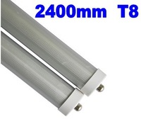 8FT LED TUBE FA8 single pin LED tube light lamp 2.4m 40W 4000LM SMD2835 85-265VAC Free FEDEX
