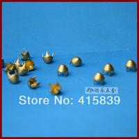 free shipping 1000pcs 5mm Decorative Rock DIY screw thread brass metal rivets Studs for handbag/ Leather /Clothes/Belt