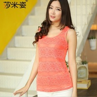 Free Shipping New 2014 Hot Brand Fashion Sexy Cotton Round Neck Slim Women Tanks Top Casual Women Clothing ST0009 Dropshopping