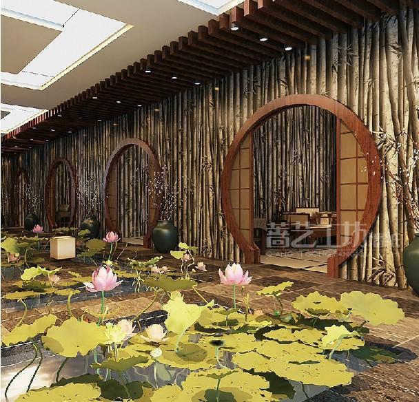 Design Tapete Big Bambus : tapete luxus Restaurant tapeten gold bambus muster(China (Mainland