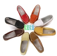 2014 New Arrival 8 colors genuine leather Women's shoes easeful  nurse Flats Loafers shoes Fashion Flats shoes for Mama