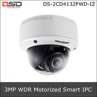 DS-2CD4132FWD-IZ Hikvision 3MP IR WDR Motorize Smart IPC, Support Face Detection, RJ45 & RS485. With SD Card slot, up to 64GB.