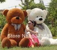 Hot Selling TEDDY BEAR STUFFED GIANT JUMBO 4.6 FEET size:140cm birthday gift Dark Brown white pink Light brown