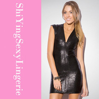 Black Glitter Bandage Bodycon Dress LC28075 free ship new arrival new fashion summer women dress