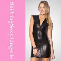 Black Glitter Bandage Bodycon Dress LC28075 free ship new arrival new fashion summer women dress