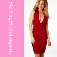 Latest Design Cross Back celebrity Bandage Dress new arrival LC28006 Free shipping dear lover