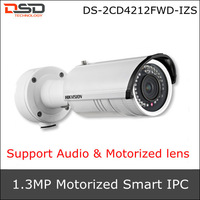Hikvision The latest Smart Code 720P Motorize IR-Bullet WDR Smart IPC DS-2CD4212FWD-IZS,Support Face detection & Audio detection