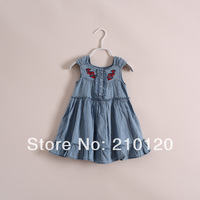 2014 New Fashion  Girl cowboy  dress  have age 2-7 years old