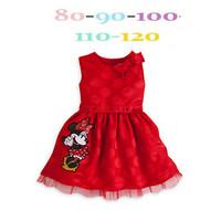 Minnie dress girls dress children's clothing for girls round drill bit light summer dress new bow dress models female baby kids