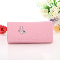 2014 NEW Fashion Clutches purse butterfly print long design wallet Furly candy purse Elegant evening bag WZ-116