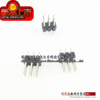 Free Shipping 100PCS/Lot 2X3 Pin Double Row 2.54mm pitch Male pin Header straight pins highly quality