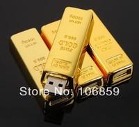 Amazing Price - Top Grade Quality Golden bar USB Flash memory drive 16GB 8GB 4GB 2GB 1GB 50pcs/lot