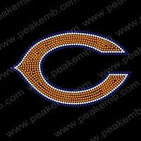 New Design Iron On  Bear Rhinestone Mesh Hot Fix Motif Heat Transfer Designs 50Pcs/Lot Free Dhl Shipping