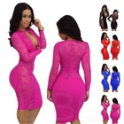 Free shipping women dresses lady lace long sleeve sexy plus size 2014 new designer 0109(China (Mainland))