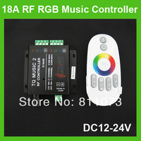 18A Wireless Sound / Audio Music RF LED Controller For RGB Strip Light DC12-24V