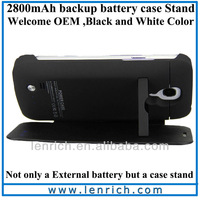 LPB502 DHL Free shipping Newest 2600mah Rechargeable Power Case  Samsung Galaxy S4 IV Mini External Backup Battery Charger Case
