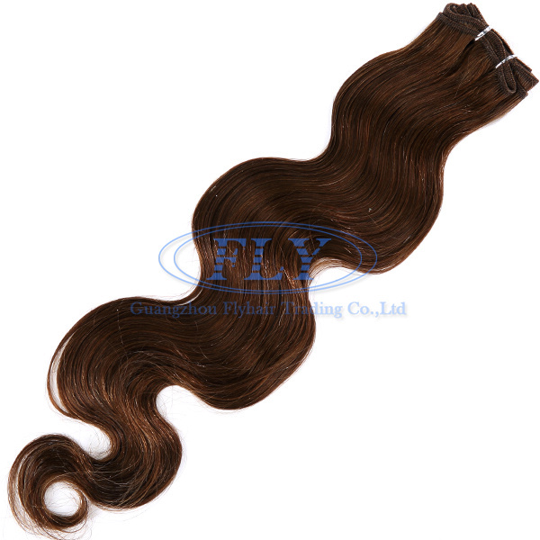20inch indian ladies hair styles body wave #6 light brown fast DHL shipping 100g indian human remy hair FLY online store(China (Mainland))