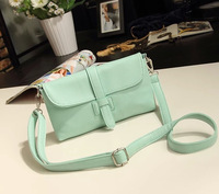 Vintage fashion 2014 candy color mini bag one shoulder cross-body women's handbag