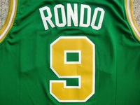 Rajon Rondo St.Park's Day Jersey Boston #9 Golden New Material Stitched Basketball Jersey