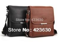 New 2014 genuine leather men messenger bags man shoulder bags men's high quality casual handbags leisure IPAD bag