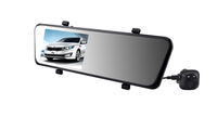 "New Arrival 6000A 1080P/720P HD Car DVR 4.3"" TFT LCD Rearview Mirror Dual lens 140 degree angle IR night vision GPS G-Sensor"