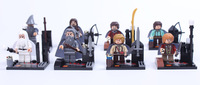 FreeShipping 8PCS/lot  lord of the rings figures ,Hobbits and White & Gray Master minifigures  classic toys for kids gift
