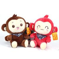 Beauty 1PC Kids Baby Plush Toy Cartoon Monkey Smile Neckerchief Stuffed Toys Free DropShipping