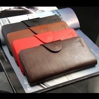 5pcs/lot  ! High quality Men long design genuine leather casual wallet card holder wallet
