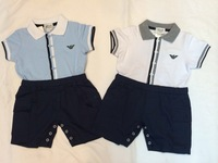 Retail Free shipping Brand Kids Boy's cotton Short sleeve Bodysuits & One-Pieces,Gir's Rompers+Clearance