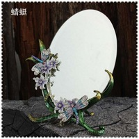 Fashion table mirror decoration metal colored drawing mirror rustic dressing royal princess 7 desktop makeup mirror