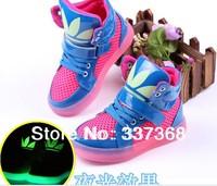 New 2014 Super Luminous Children Athletic Shoes Boys & Girls Shoes Kids Basketball Child Shoe Running